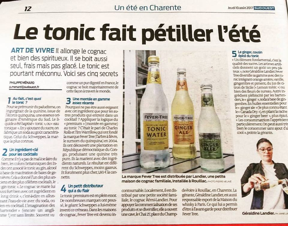 Article SUD OUEST Août 2017 _ CHAI27 Fever Tree